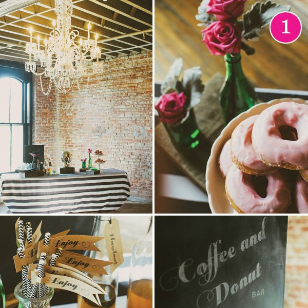coffee and donut bar bridal shower
