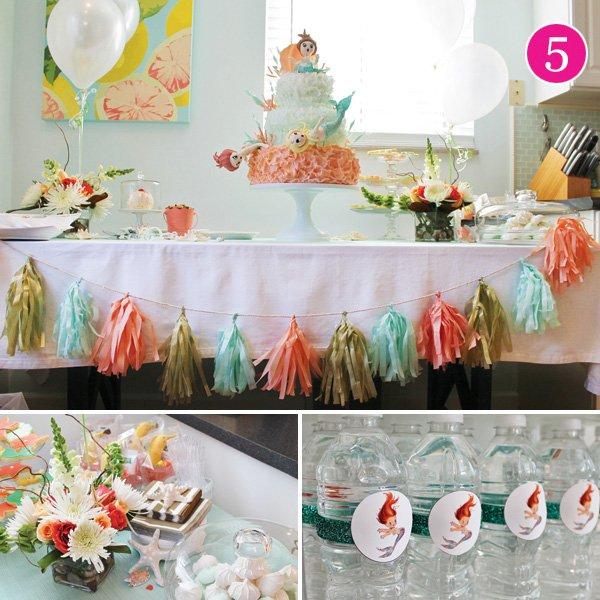 vintage mermaid birthday party