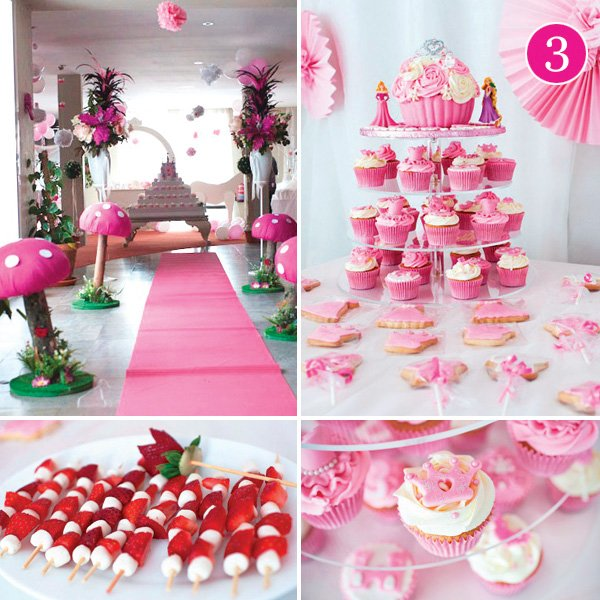 perfectly pink princess birthday party with castle cake