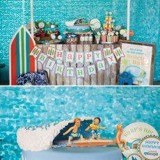 ocean beach party snack shack dessert table