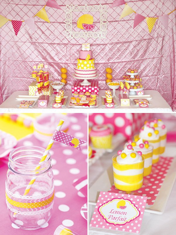 Sweet Summertime Pink Lemonade Birthday Party Hostess With The