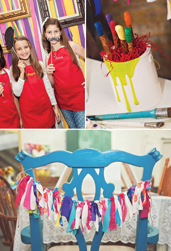 art birthday party decor ideas