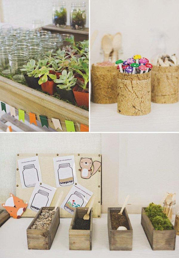 build your own terrarium party activity