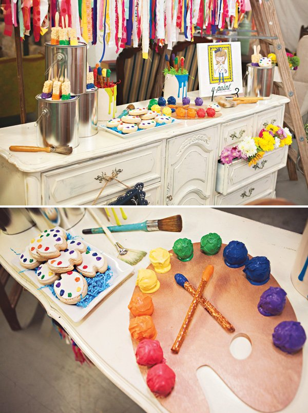 rainbow cake ball paint palette