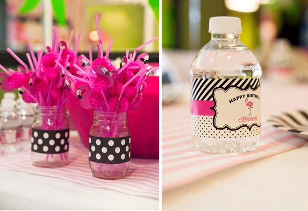 flamingo party drinks