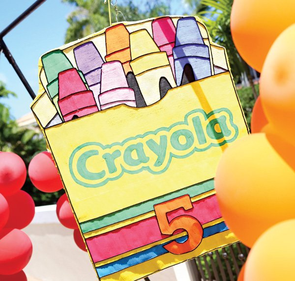 large crayola crayons sign