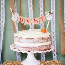 homemade fall pumpkin baby shower cake