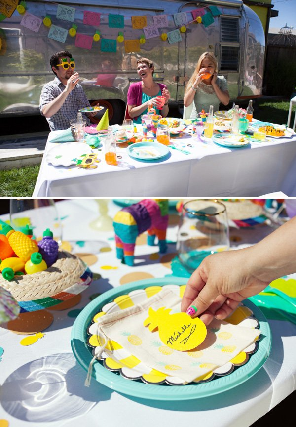 pineapple fiesta birthday party
