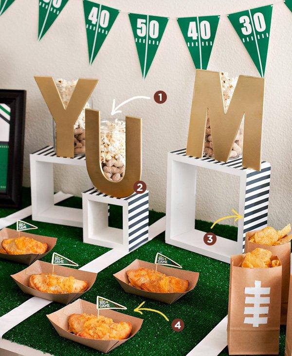 DIY Football Party Decorating Ideas
