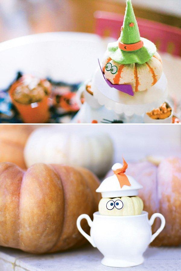 mini pumpkin decorating