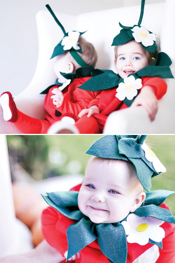 strawberry costume for babies and young kids