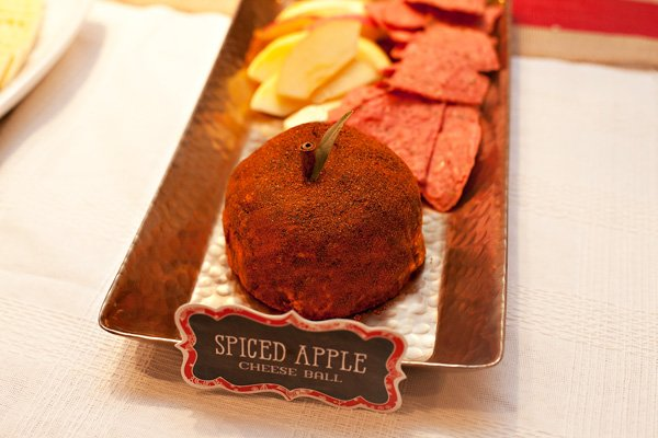 holiday appetizer - apple cheese ball