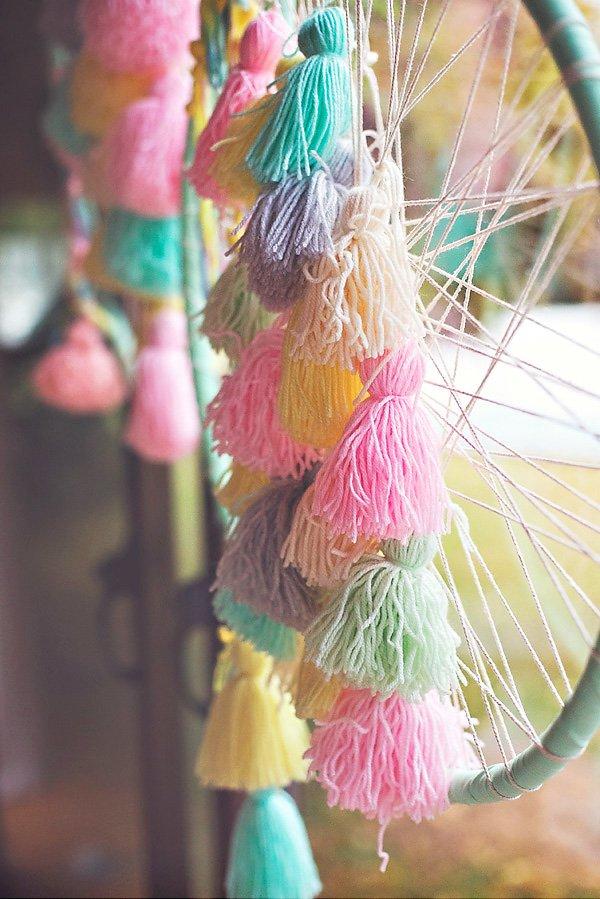 yarn tassels decoration