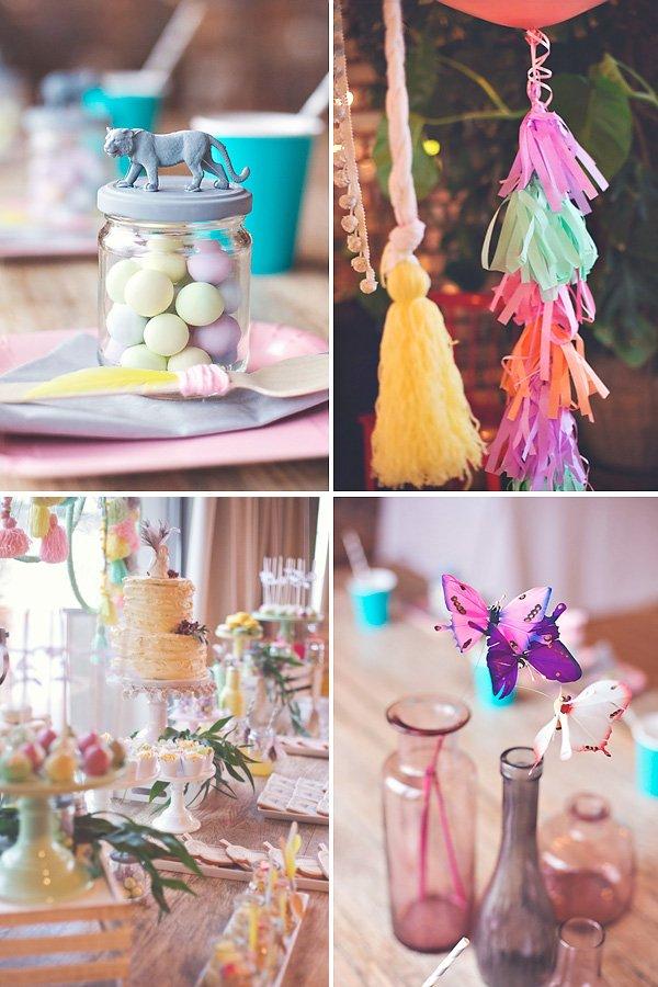 beautiful boho chic party decorations