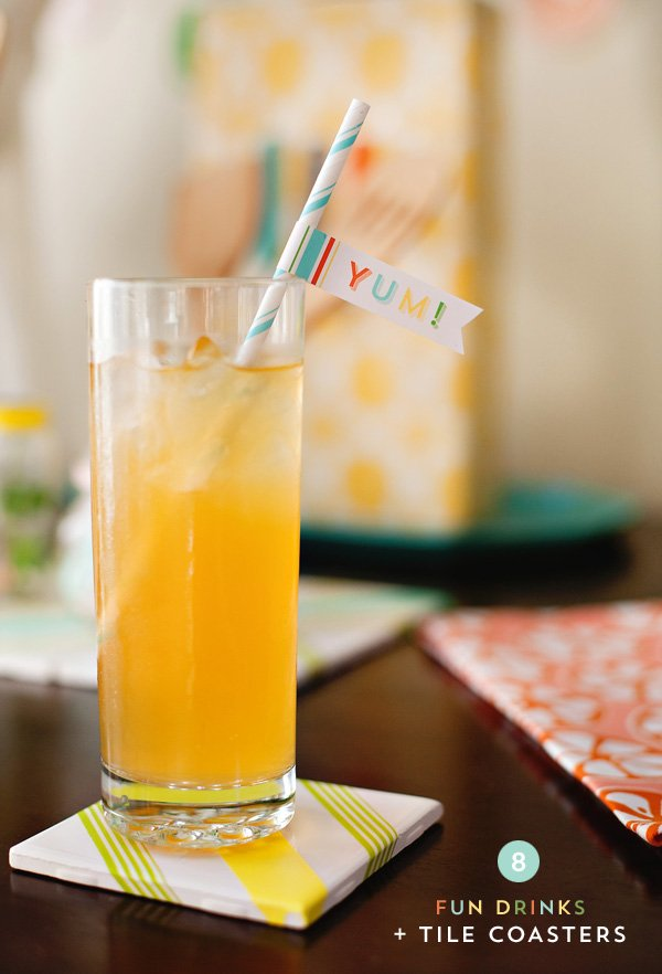 Orange Cocktail + Modern Kitchen Party Printables