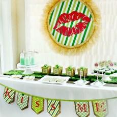 st. patrick's day dessert table