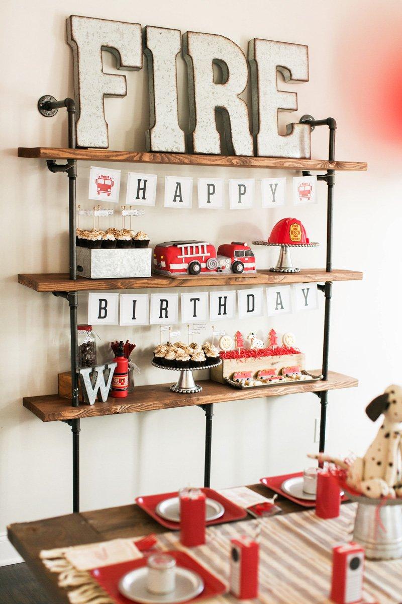 fire marshall birthday party theme