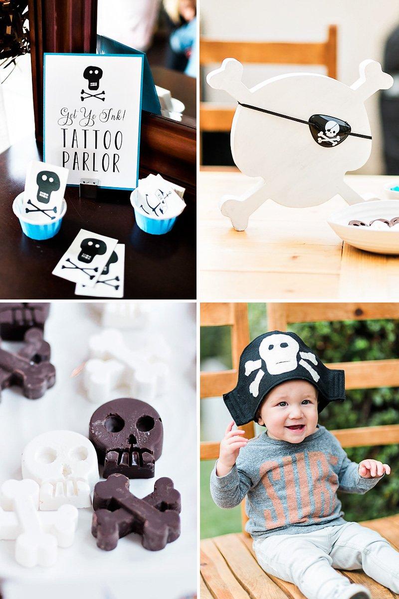 skull and cross bones ideas - chocolates, tattos, and dress up