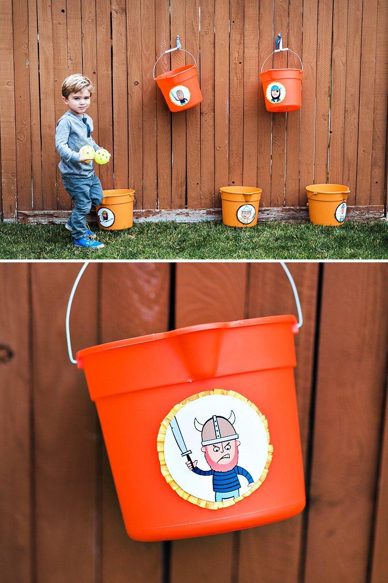 pirate party activiy idea - viking buckets