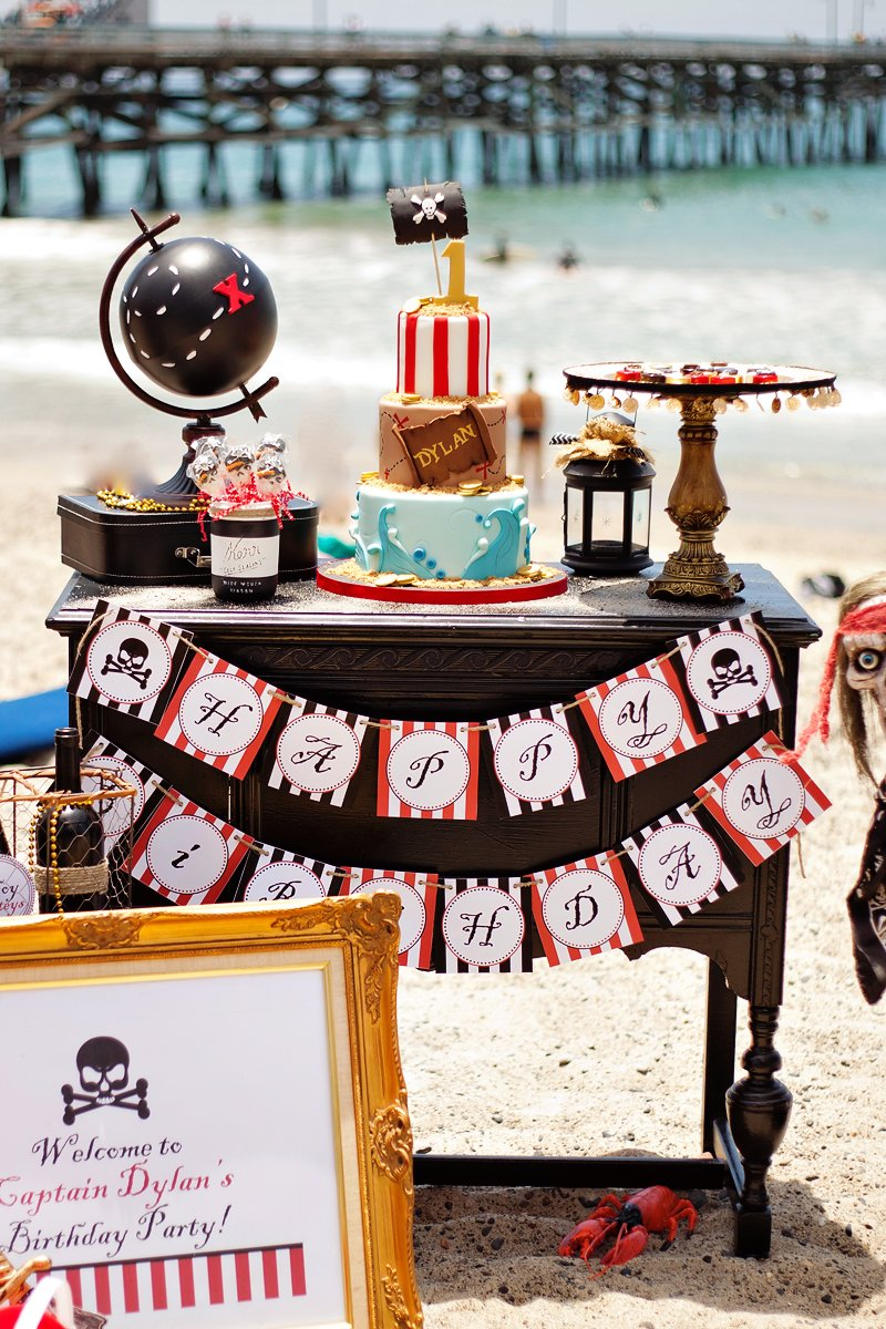 pirate party on the beach