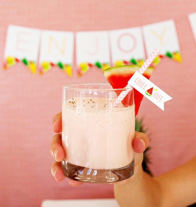 watermelon chill healthy milkshake