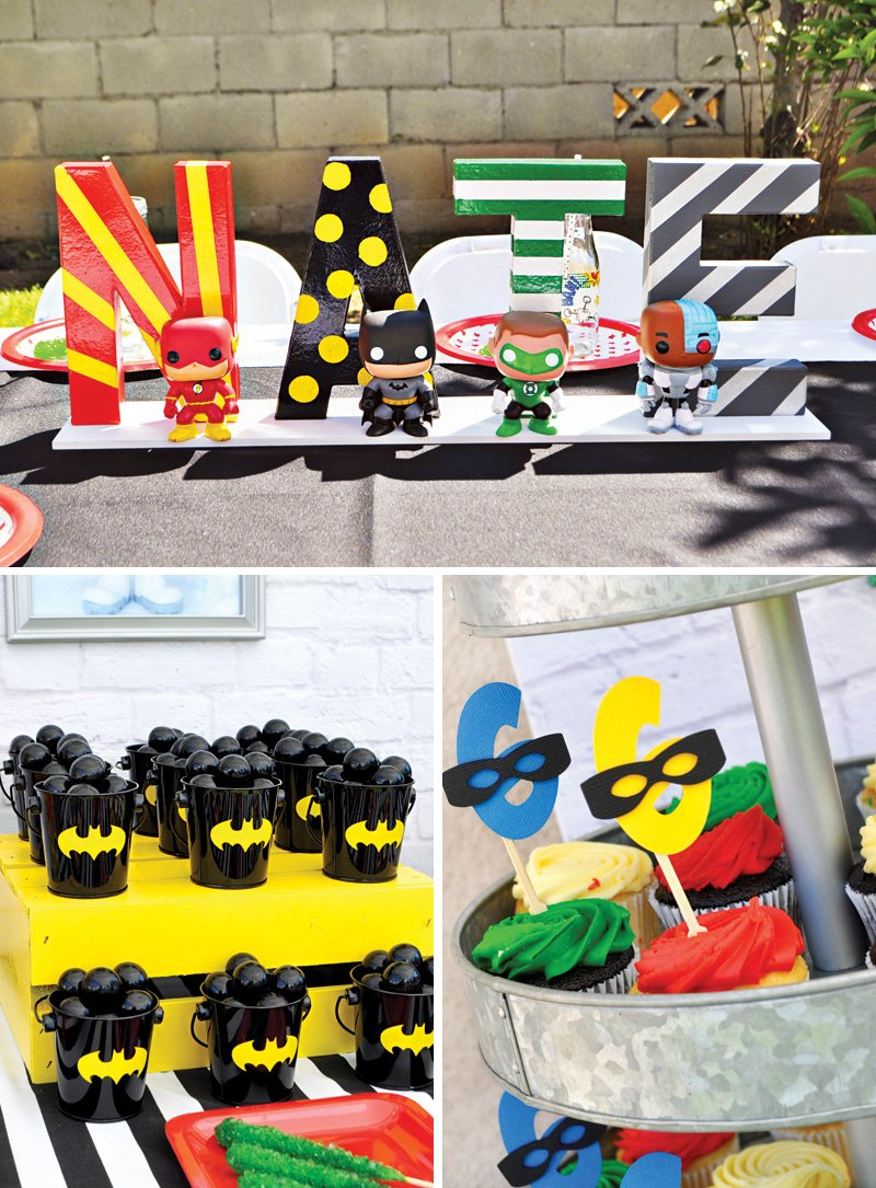Justice League party decorations