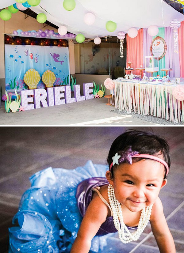 Whimsical Pastel Little Mermaid 1st Birthday Party Hostess With The Mostess