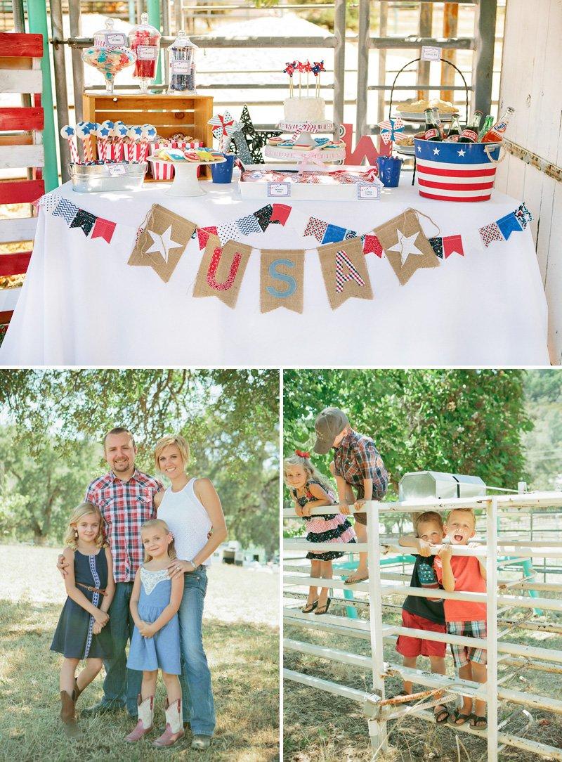 Americana party dessert station