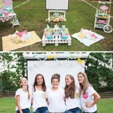 teen girl's movie birthday party