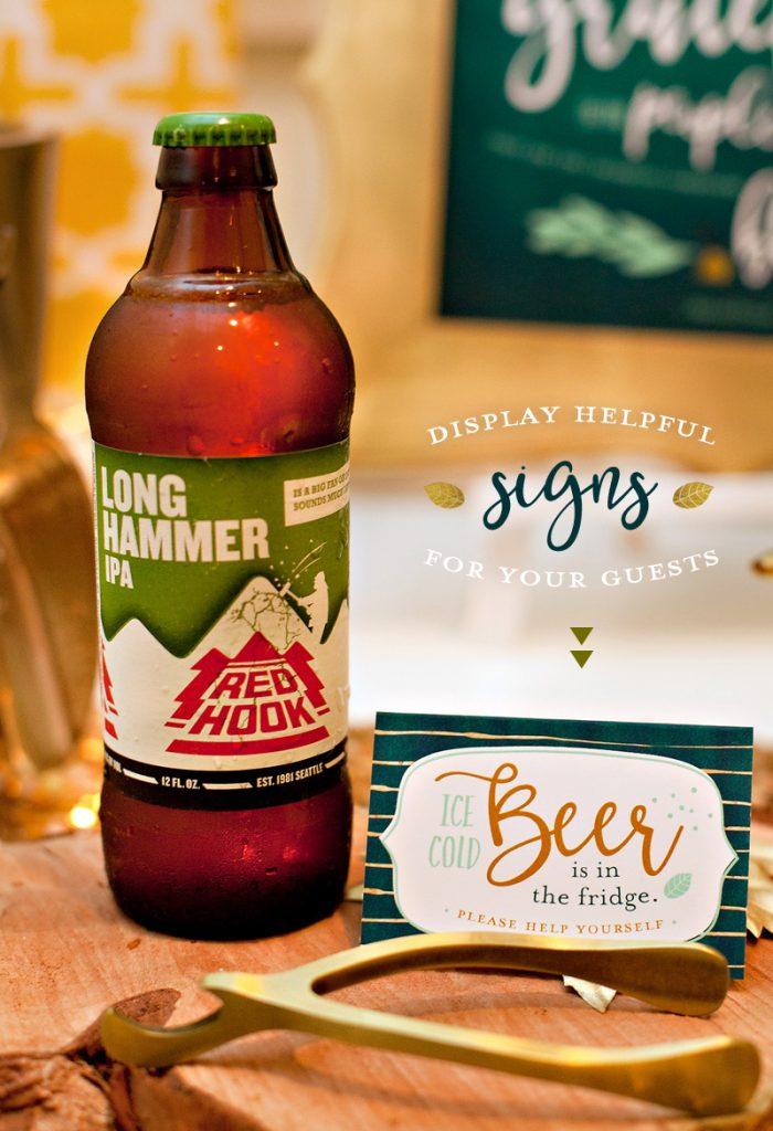 Red Hook Beer + Free Printable Beer Sign