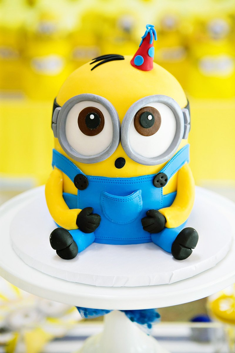 Modern Bright One In A Minion Themed Birthday Party Hostess With The Mostess