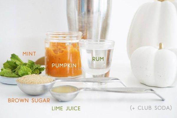 Pumpkin Spice Mojito Ingredients