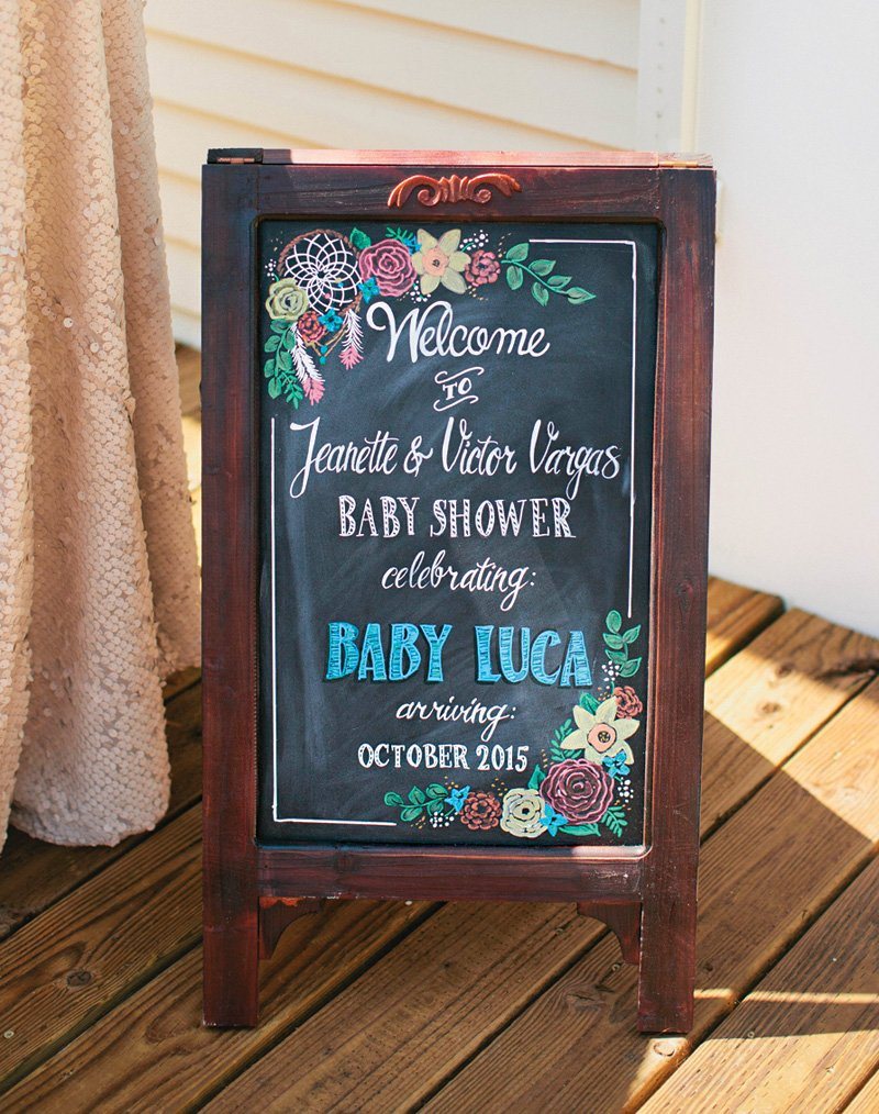 floral-chalkboard-shower-sign