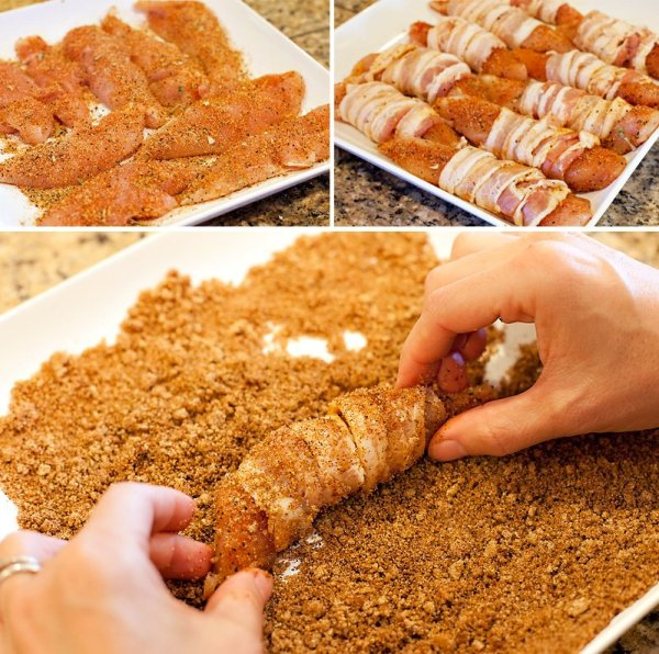 Bacon Wrapped Chicken Tenders - How-to