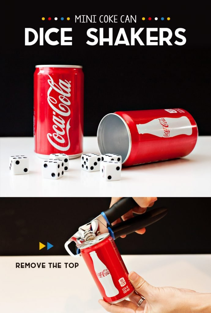 DIY Mini Coke Can Dice Shakerss