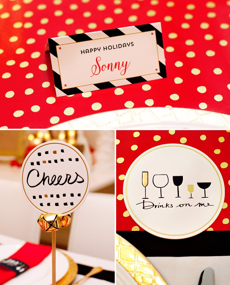 Black White Gold Holiday Paper