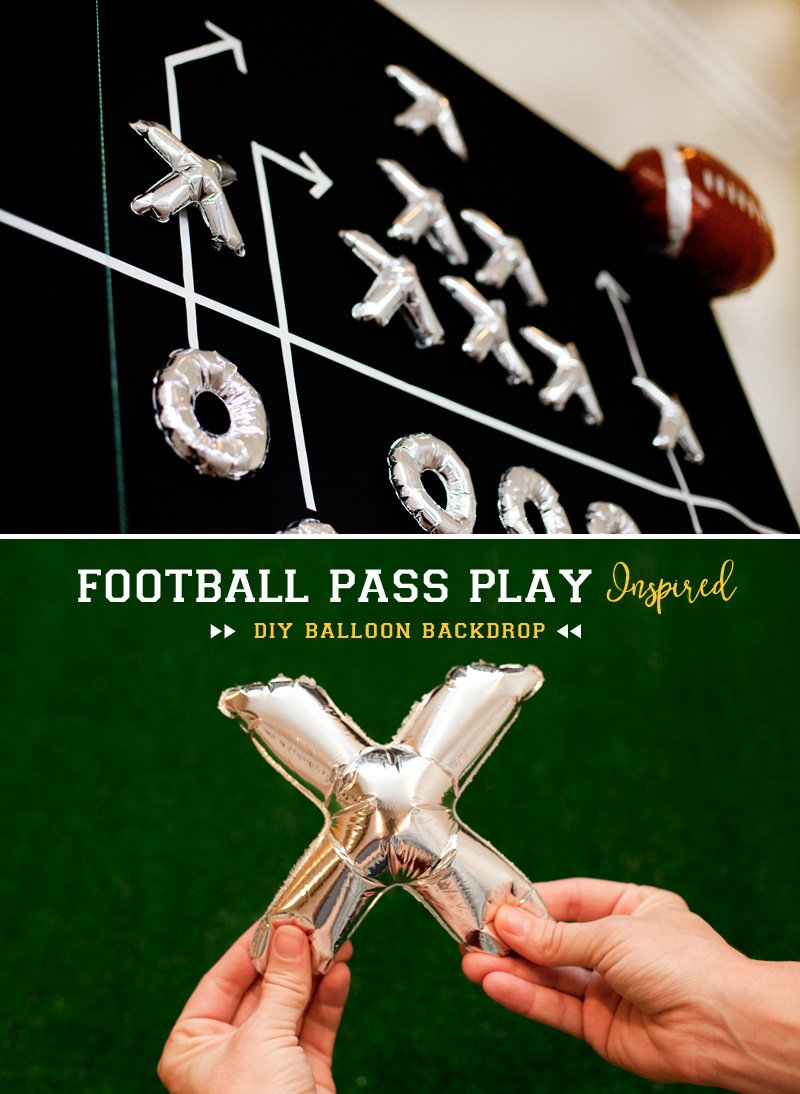 DIY Football Diagram Balloon Backdrop Tutorial