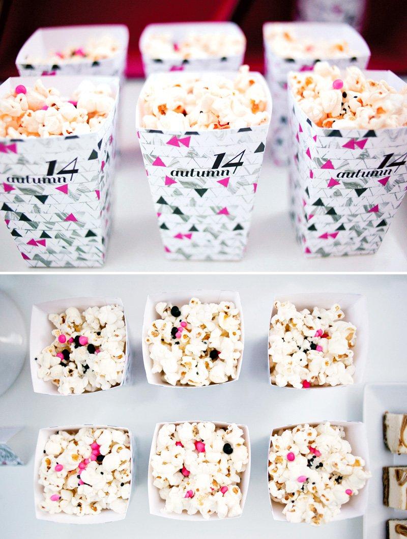 Geometric Popcorn Cups - Pink and Black