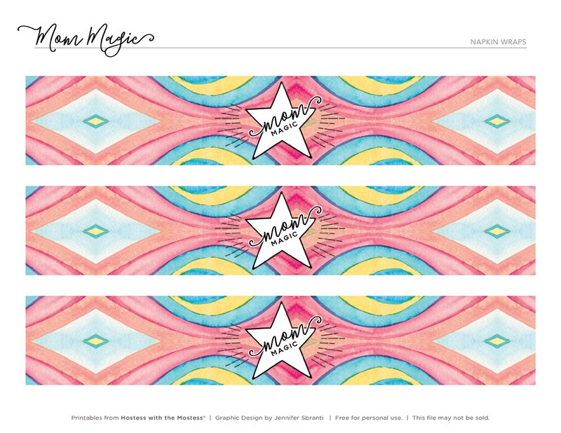 Mom Magic Printables from HWTM - Napkin Rings