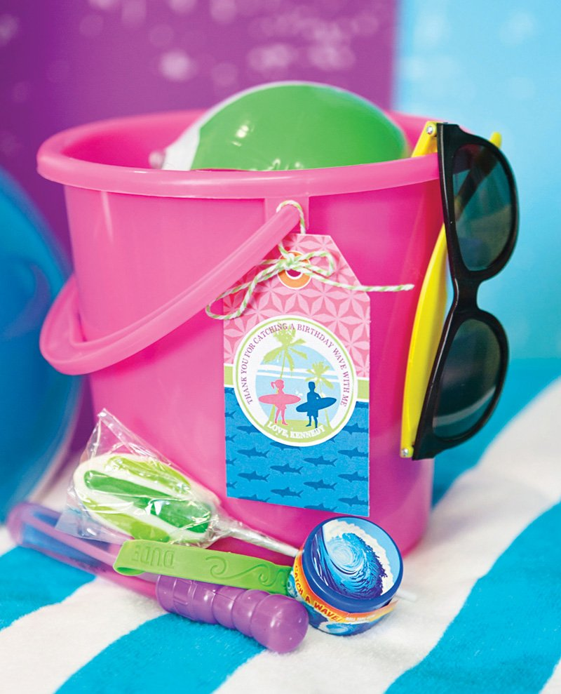 sand bucket party favors