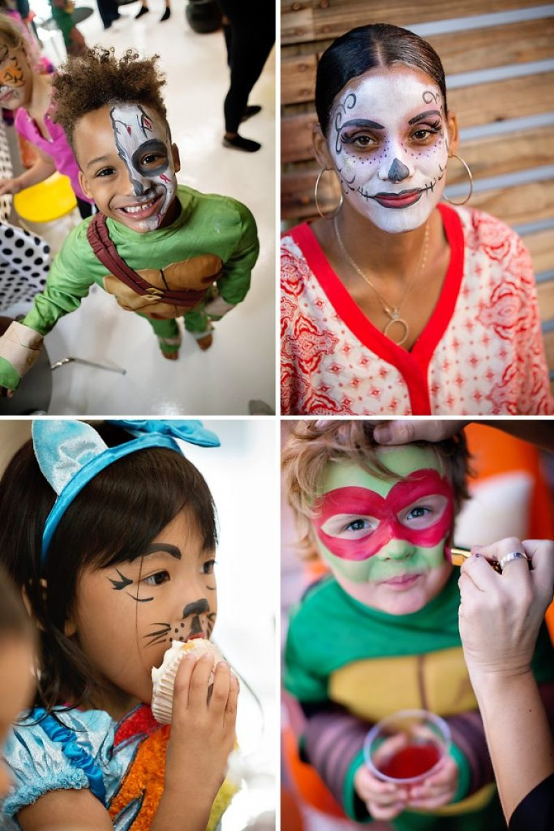 Halloween party face painting