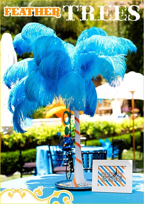 DIY BIG Feather Tree Centerpieces Hostess With The