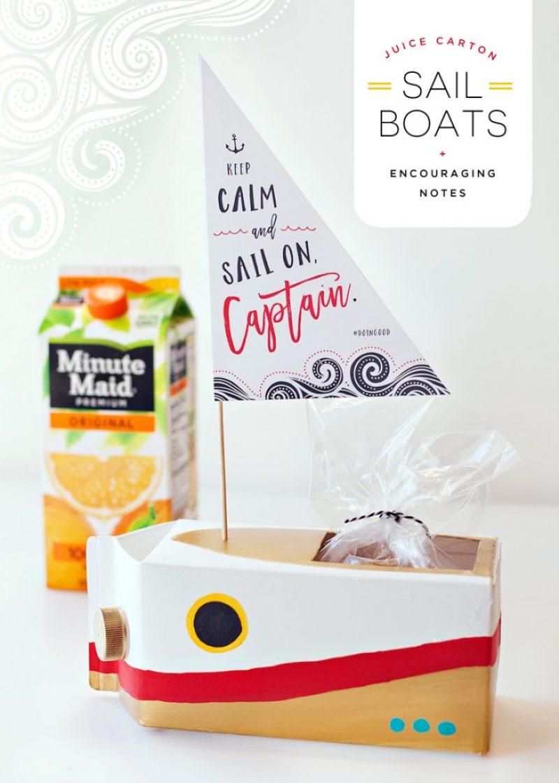 DIY Juice Carton Sailboat