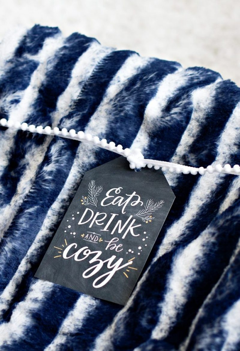 Printable Holiday Gift Tags - Eat, Drink & Be Cozy