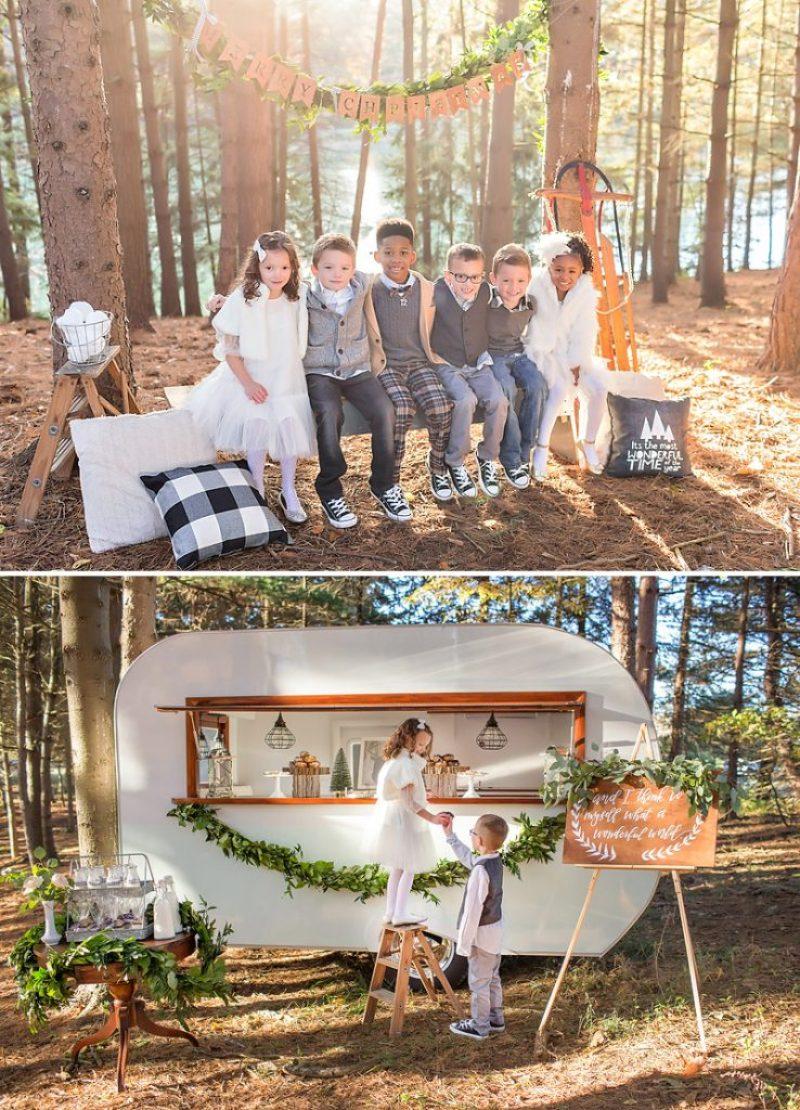 Vintage Camper Christmas Party for Kids