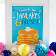 Pancakes and Pajamas Party Sign - Free Printable