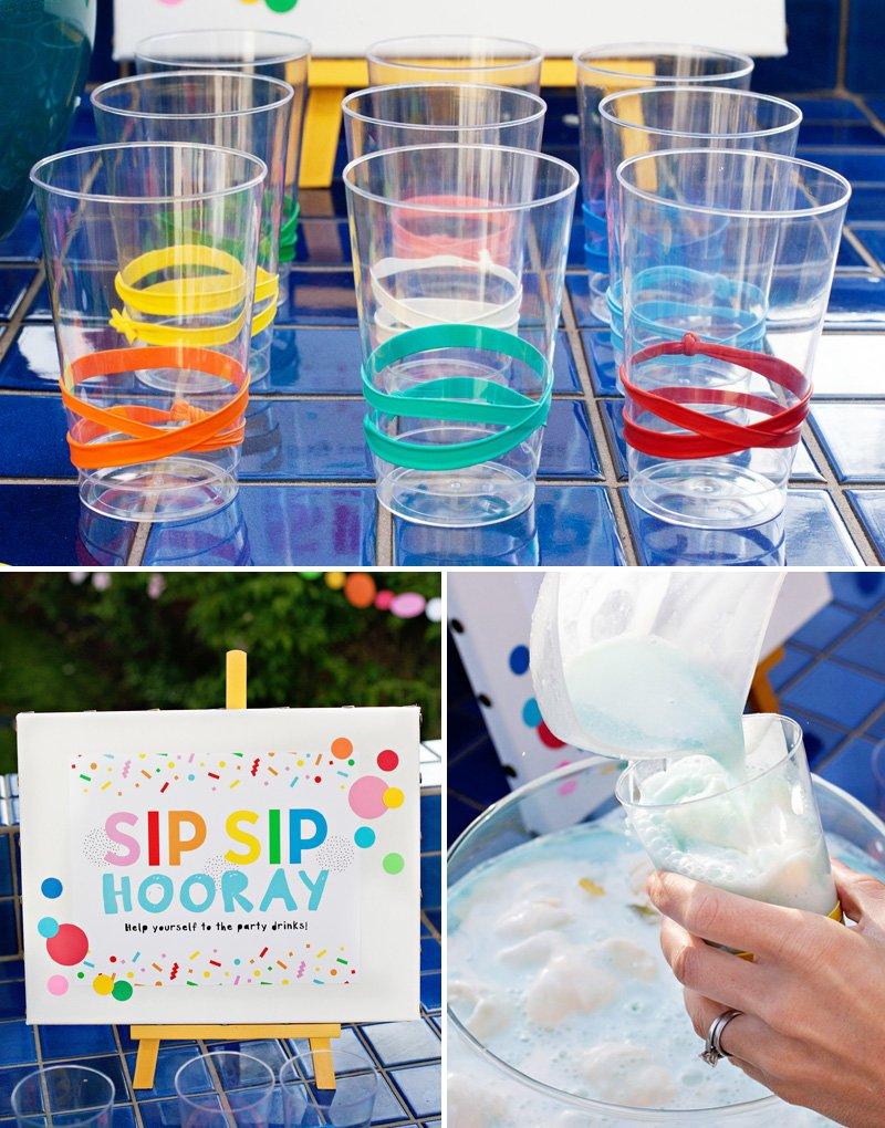 rainbow party drinks