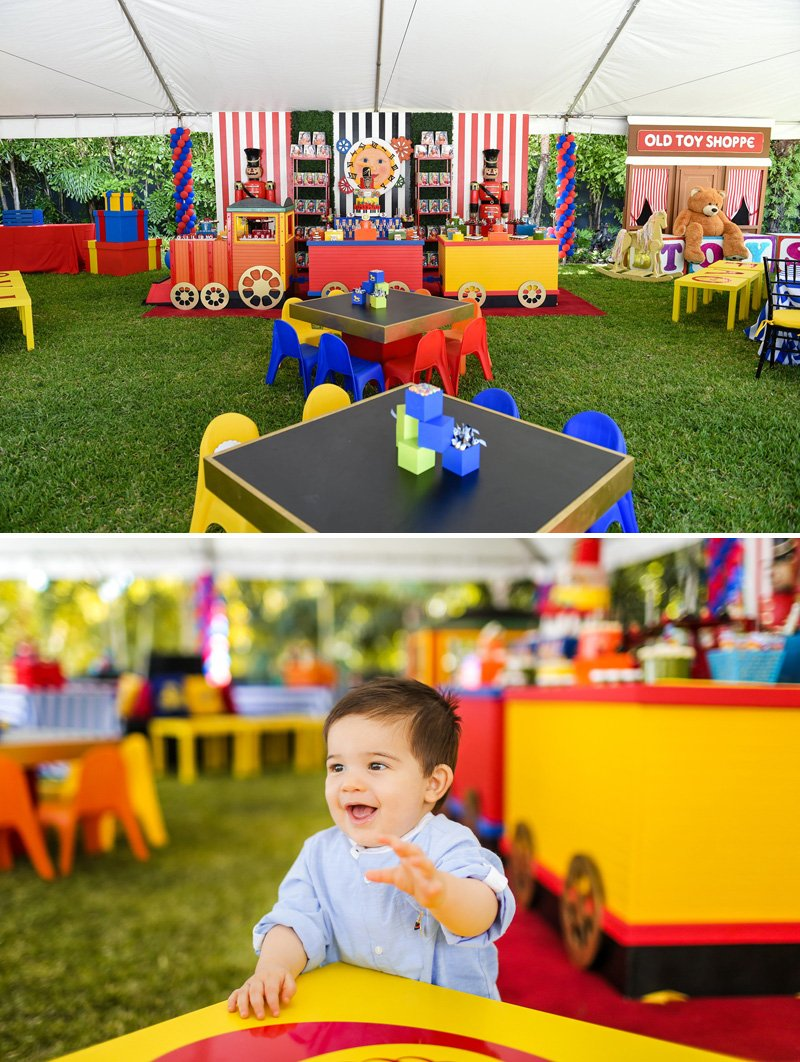 Toy Themed Birthday Party Circus Tent