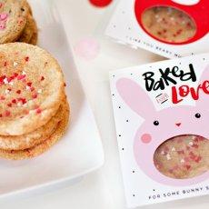valentine cookie gift printables