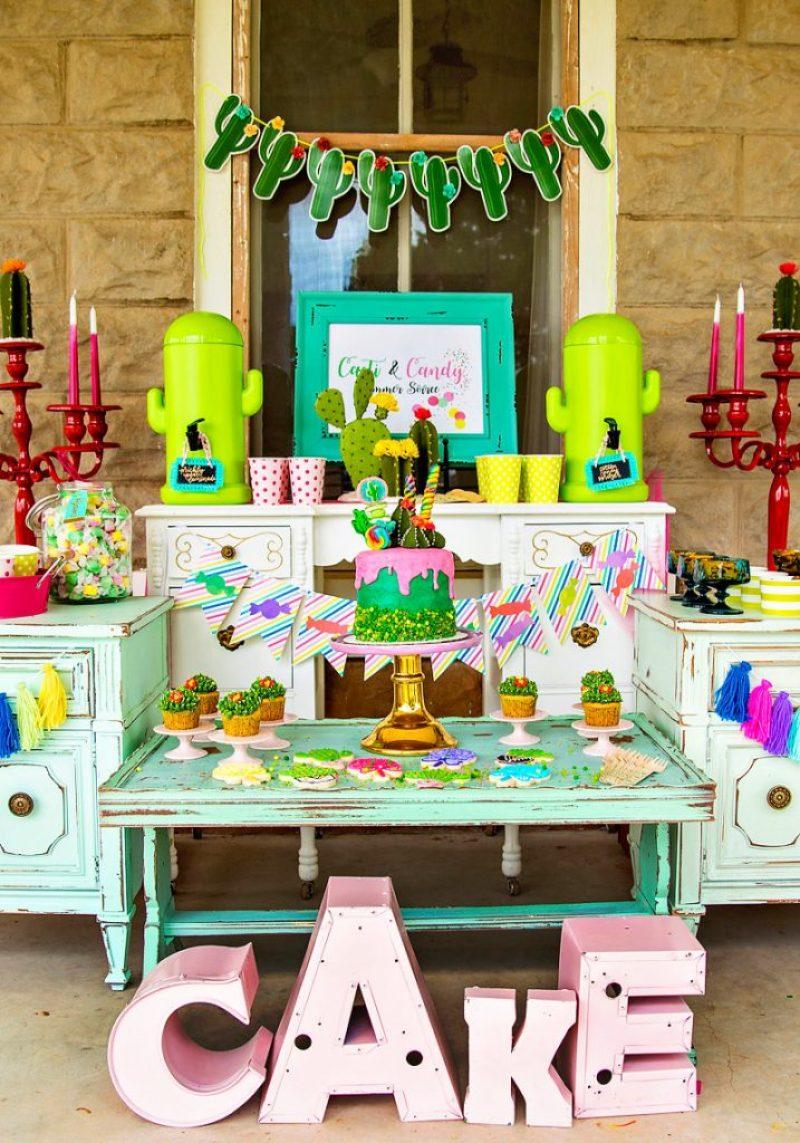 Cactus Party Dessert Table